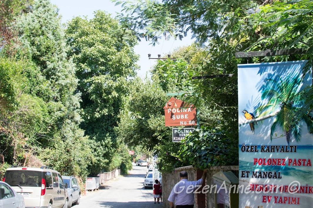Polonezköy'deki Polina'nın girişi