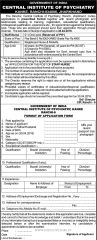 Central Institute of Psychiatry Jobs 2020 indialjobs