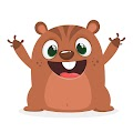 Cartoon Groundhog Illustration Free Download Vector CDR, AI, EPS and PNG Formats