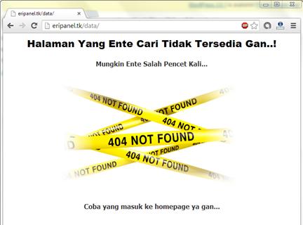 404 not found hasil modifikasi