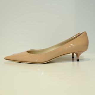 Jimmy Choo Blush Pink Patent Leather Kitten Heels