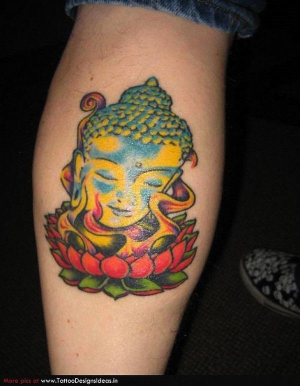 buda_cabeça_na_flor_de_ltus_da_tatuagem