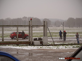 Damian Lewis first star to have snow conditions on the top gear track.