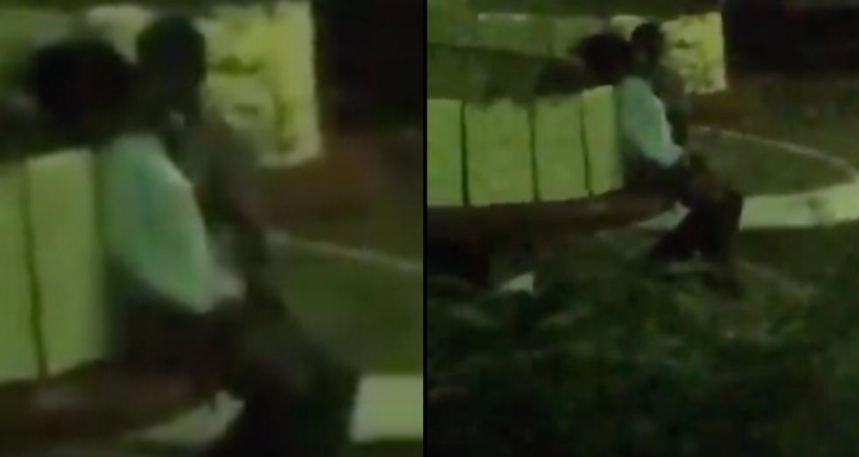 KNUST students filmed getting touchy feely at night (video)