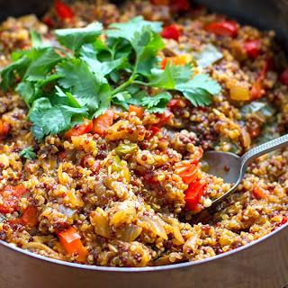 Instant Pot Quinoa With Miso, Mushrooms & Peppers.