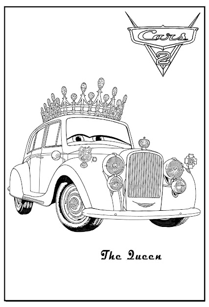 Cars  Printable Coloring Pages  Cars Coloring The Queen Cars Coloring  Luigi Cars Coloring Lamborghini