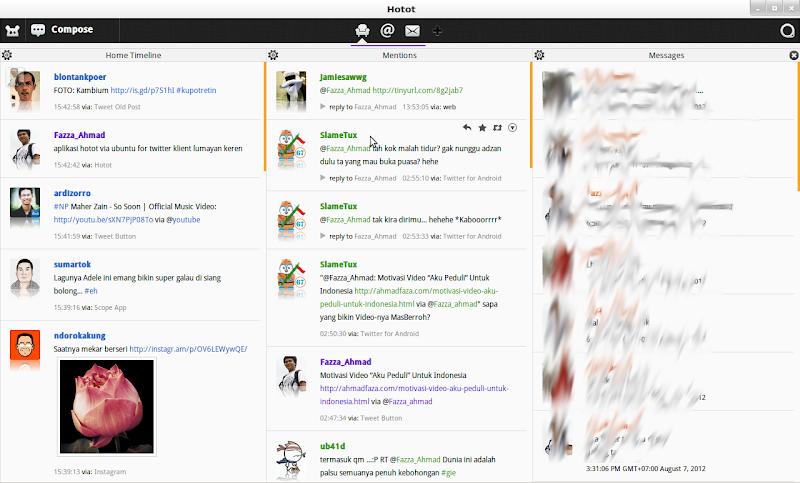 Aplikasi klient twitter hotot di ubuntu