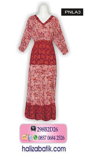baju batik modern terbaru, baju batik wanita muslim, model baju batik panjang