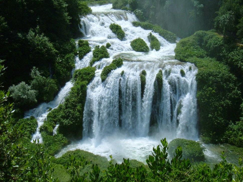 Мраморный водопад, Италия, Красивые водопады планеты
