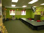 This is the classroom where two-year olds learn to read their Bibles and Pray everyday so they will grow, grow, grow!