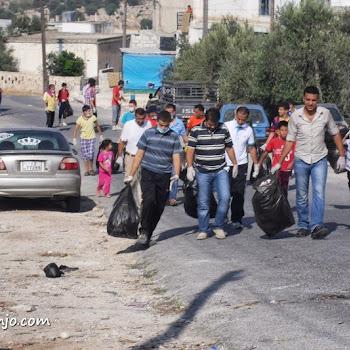 (حملة تنظيف قرية حاتم بعنوان (شباب ايجابي