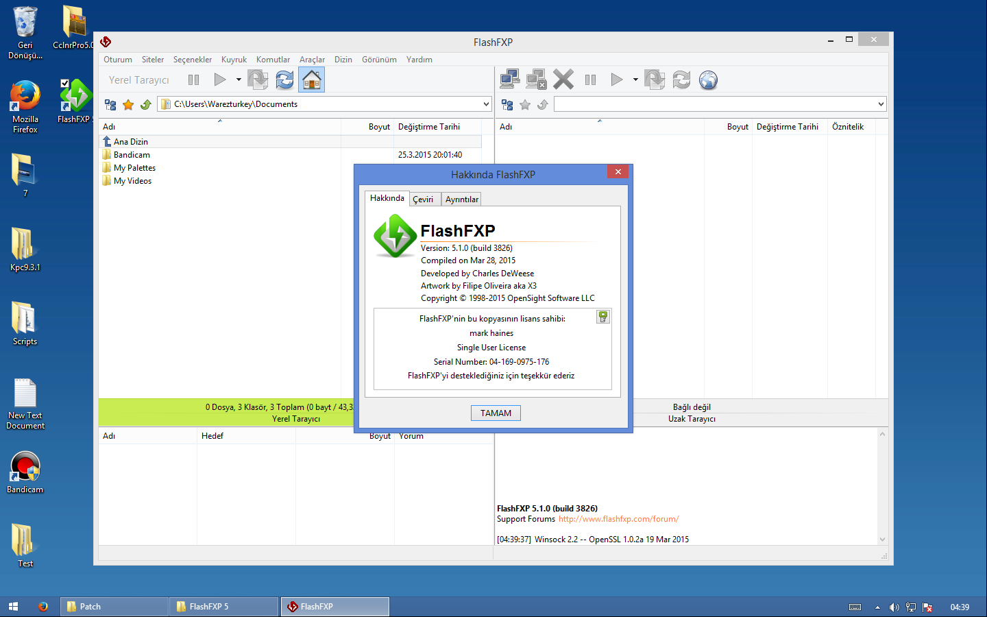 FlashFXP 5.4.0 Build 3966 Türkçe + Portable