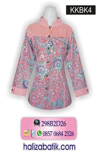 KKBK4 Gambar Baju Batik Wanita, Baju Kerja Batik, Baju Batik Muslim Modern, KKBK4