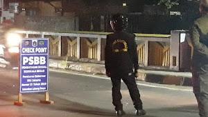 Jelang Idul Fitri Gugus tugas Covid-19 kecamatan Cipayung,  Check Point PSBB di Pintu masuk jakarta