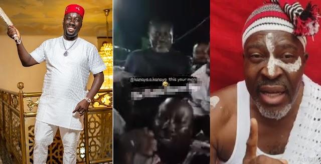 The Moment Obi Cubana Made Sign Of The Cross As Kanya O Kanayo Sprays Him Cash [Video]