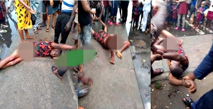 Drama As Man Is Stopped From Stabbing Himself To Death In Apparent Suicide (Photo)