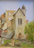 zamek Grodno, Zagórze Śląskie olej, płótno