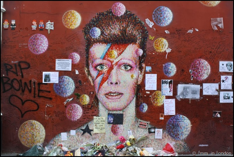 The David Bowie Memorial in Brixton