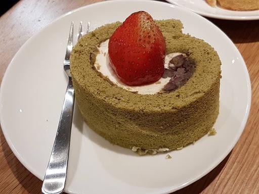 Matcha azuki roll cake from Cafe Muji at Raffles City