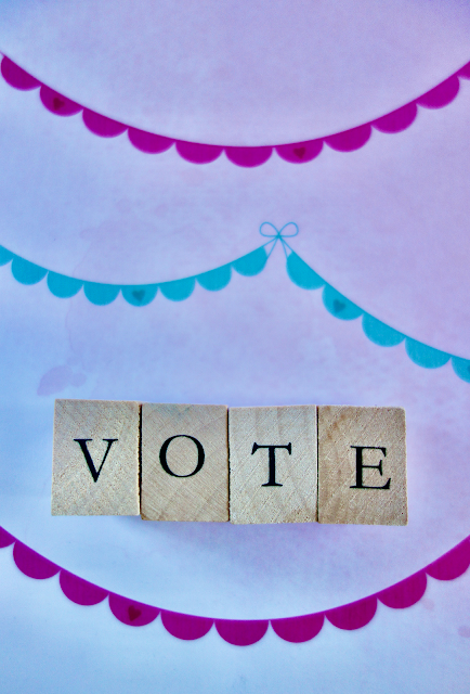 vote, vote2020, US elections, scrabble tiles, scrapbook paper, blah to TADA, crafts, handmade, craftivism