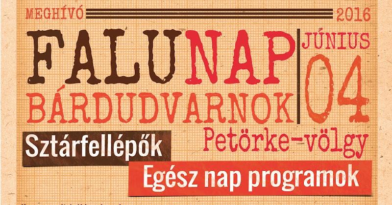 Bárdudvarnok Falunap 2016.06.04 meghívó