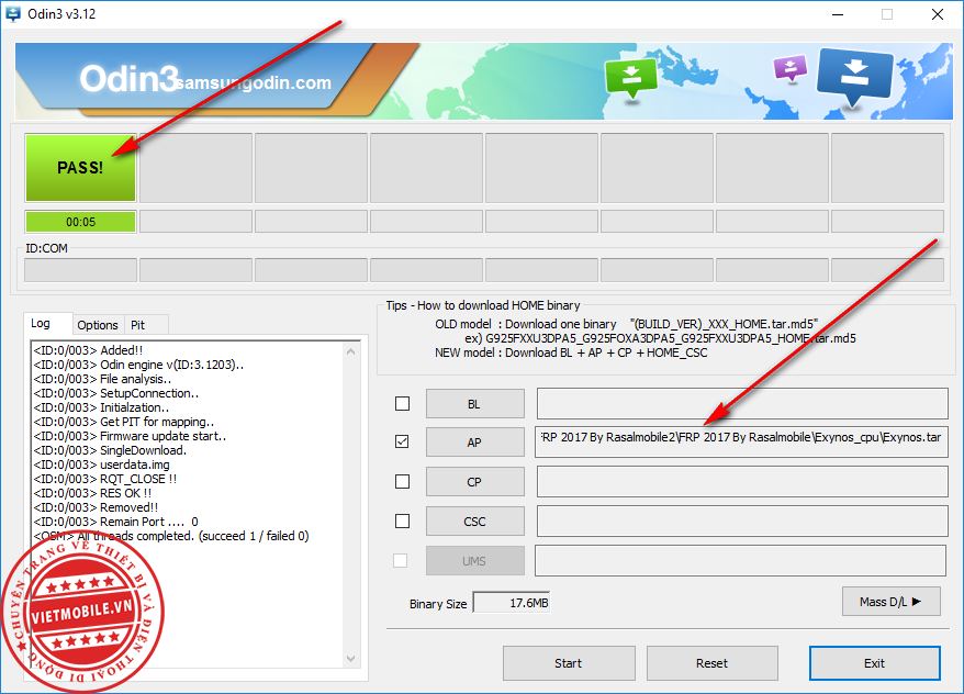 Chia sẻ - File xóa FRP Samsung nạp qua Odin , phương pháp 2017