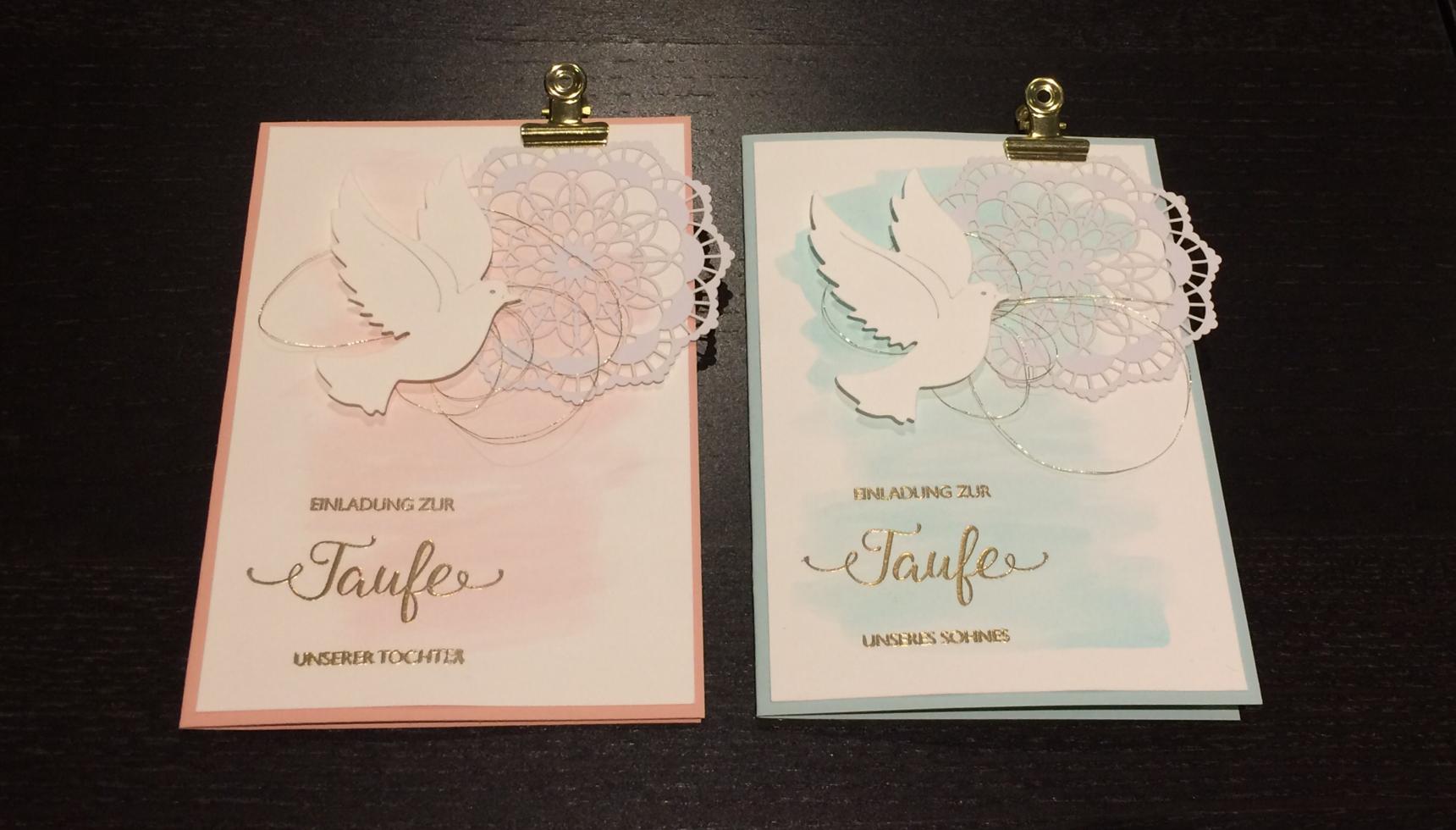 Stampin UP Taufkarte Für Junge Und Mädchen Einladungskarten Taufe Firmung