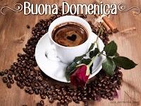 buona domenica buon giorno immagine con scritta caffe rosa rossa.jpg