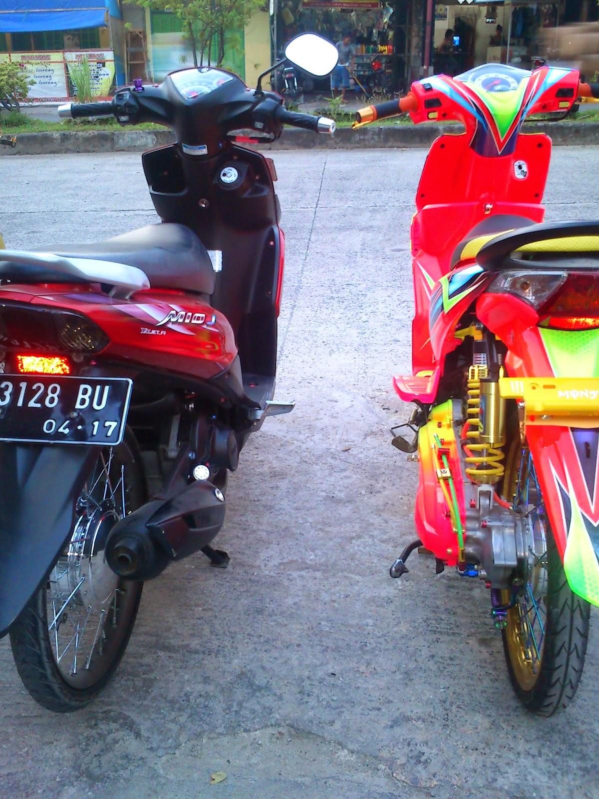 Foto Modifikasi Motor Mio J