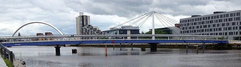 River Clyde beim Scottish Exhibition Conference Center, Glasgow