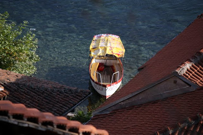 Boat on Lake Ohrid in Maceodonia