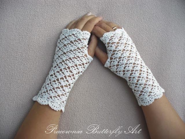 Rękawiczki i mitenki koronkowe