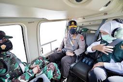 Forkopimda Jatim Melakukan Pengecekan  Pemberlakuan PPKM Darurat Melalui Jalur Udara