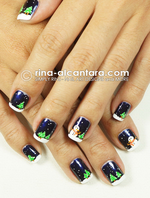 Night Before Christmas Nail Art Design