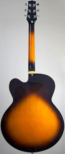 chinese sunburst archtop electric guitar at Ukulele Corner