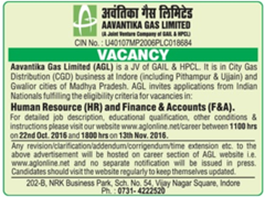 Aavantika Gas Limited Vacancy 2016 www.indgovtjobs.in