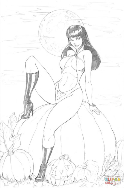 Coloring Pages Of Sexy Flowers  Vampirella