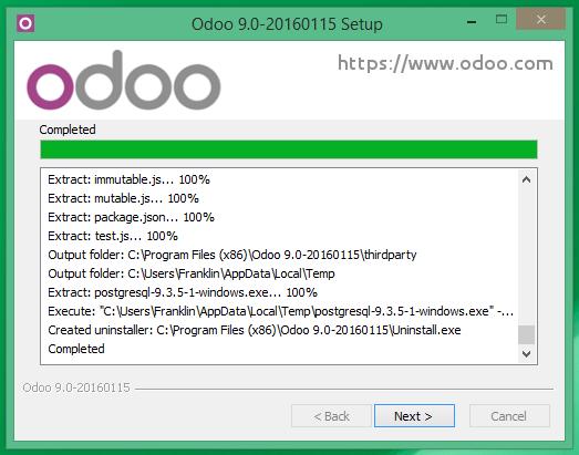 Instalación de Odoo 9 completa