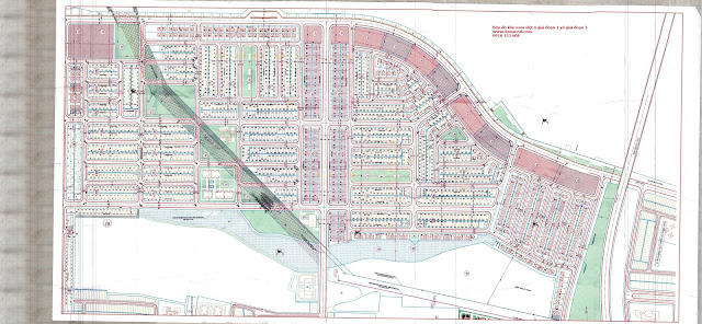 Bản đồ khu nam việt á giai đoạn 1 và giai đoạn 2