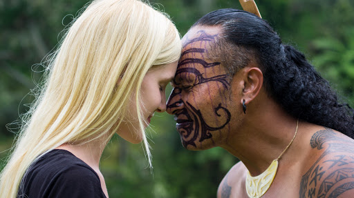 Maori and Pakeha Hongi