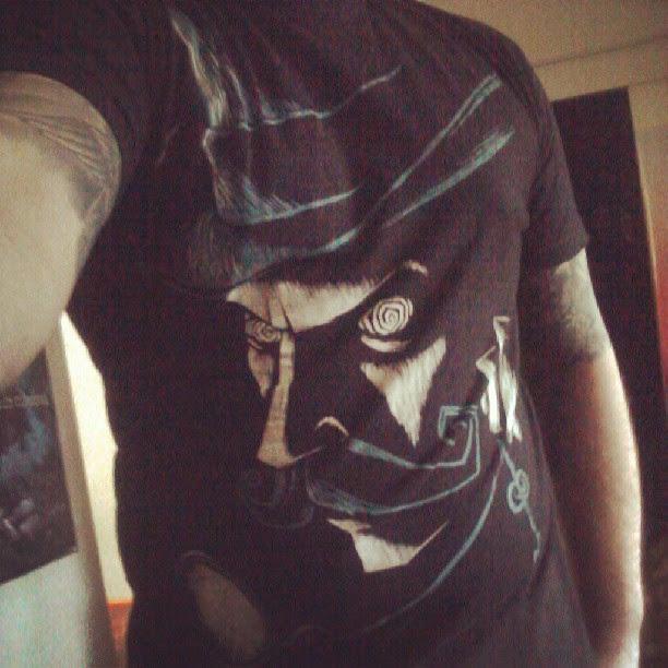 instagram, selfie, hypnotize art, akumu ink, akumuink, steampunk clothes, skater goth, emo skater, mustache tshirt