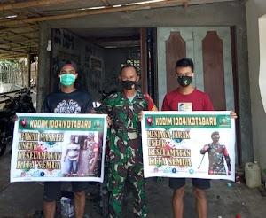Babinsa Koramil 1004-12/Pulau Sembilan Gencar Sosialisasi Prokes dengan Komsos