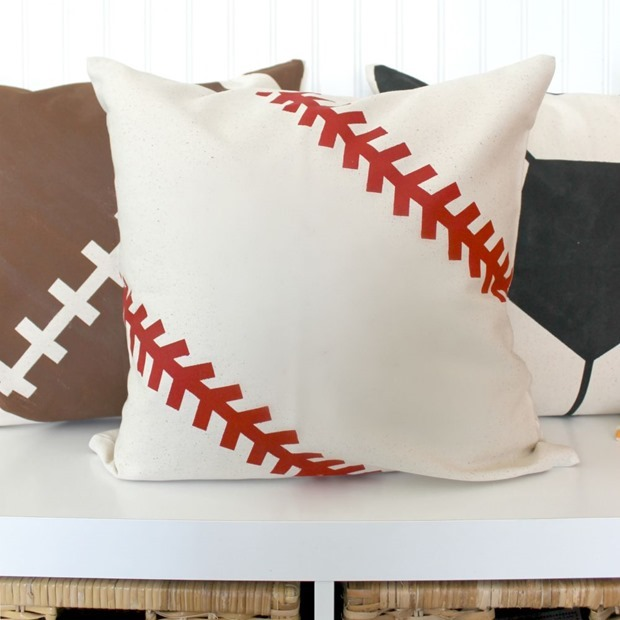 decoart baseball pillow