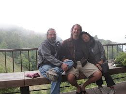 Ken, Joe and Toni at Nepenthe.