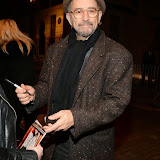 WWW.ENTSIMAGES.COM -       Richard Schiff leaving Speed - The -  Plow play at Playhouse Theatre, West End London October 21st 2014                                                    Photo Mobis Photos/OIC 0203 174 1069