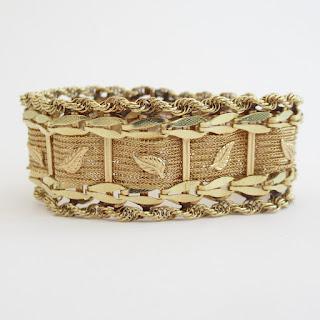 14K Gold Leaf Bracelet