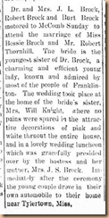 Bessie Brock Marriage