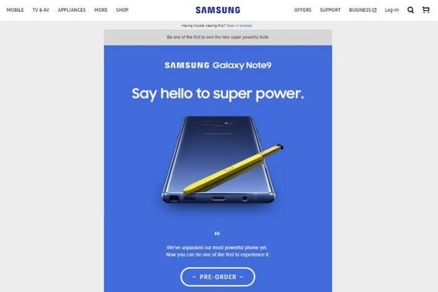 Samsung Mistakenly Leaked Galaxy Note 9 On Its Website: Check Out The Design and Specs