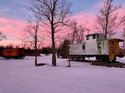 Nice color in the switchyard at dusk, February 16th, 2017