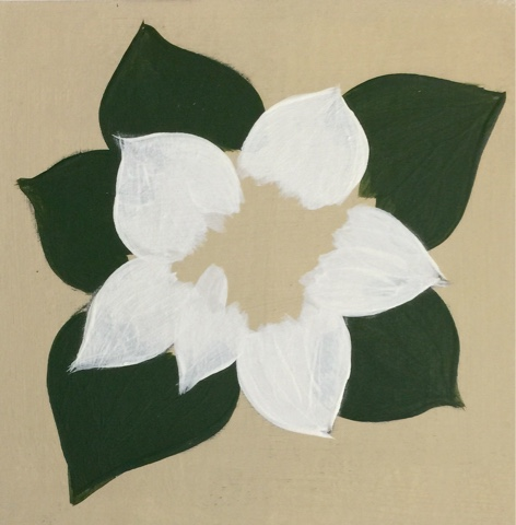 Basecoat the first layer of petals with white to prevent your paint looking transparent